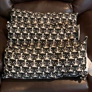NWOT IKEA Set of 3 Cat Motif Pillows